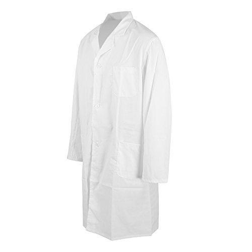 MultiWare Laborkittel Herren Weiß Labor Medizin Kittel Mantel Herrenkittel Arztkittel M