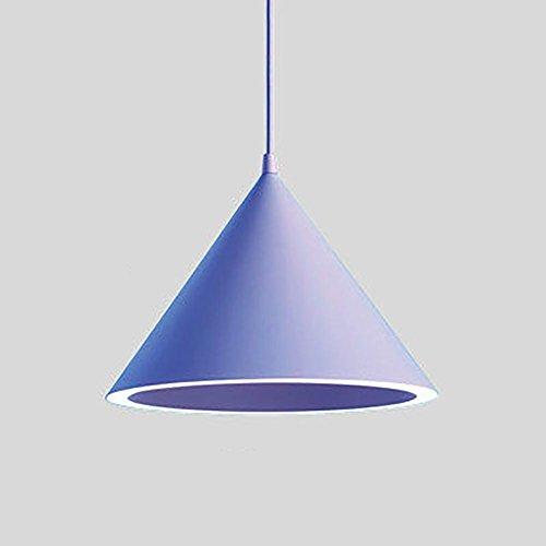 HAIYUANNAN LED Ring Hängeleuchte, Tapered Deckenleuchte, Qualität Aluminium, Safty Acryl Material, LED Paster Lichtquelle, Keine Notwendigkeit Birne, Blue -