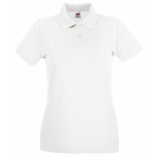 Fruit of the Loom – Polo manches courtes – Femme Blanc