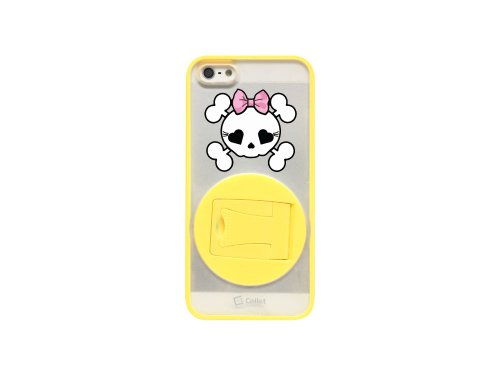 Cellet Girly Skull Proguard Hybrid Case für Apple iPhone 5gelb