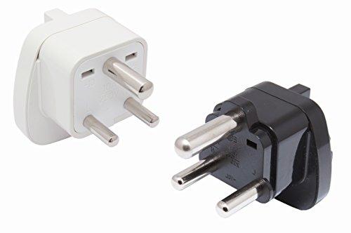 P&d-stecker (SET 2x Reisestecker Adapter für Indien Nepal TYP M + D mit Schutzkontakt)