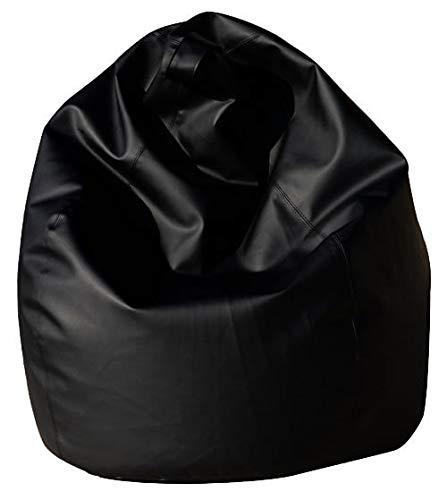 Avalli poltrona a sacco pouf in eco pelle nera