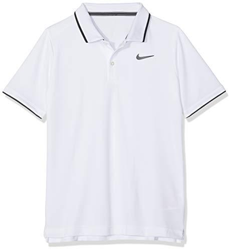 Nike Jungen B NKCT Dry Team Polo Shirt, White/Black, S