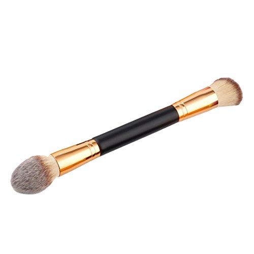 MagiDeal Pinceau de Maquillage à Double Extrémités Brosse Cosmétique pour Contour Yeux Fard à Paupières Correcteur Anti-cernes - B