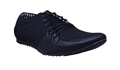 ESENSE Essence Shoes Man Laces Black Casual Shoes-2