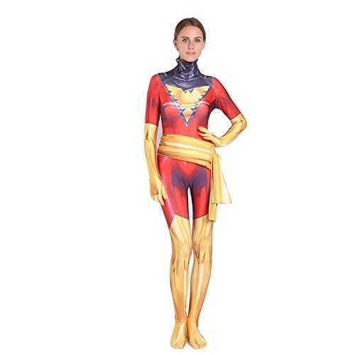 BLOIBFS X-Men: Dark Phoenix Cosplay Kostüm Kinder,Superheld Halloween Bodysuit Film Kostüm Requisiten Fasching Kostümparty,Child-XL