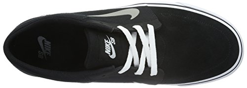 Nike Sb Portmore, Chaussures de Skate Homme Negro / Gris / Blanco (Blk/Mdm Gry-White-Gm Lght Brwn)