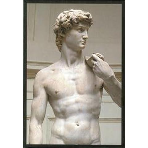 Michelangelo Famose. 3 Biglietti d'Arte per 4 Sculture di Michelangelo. [Cartoline].