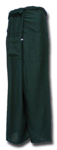 Thai Fisherman Pants Yoga vert foncé écharpe longue pantalons paréos douces