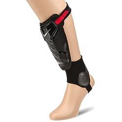 Nike Protegga Shield - Espinillera, color negro / rojo, talla S