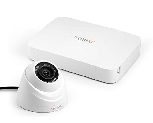 Usb2-kit (Technaxx 4561 Mini Security Kit PRO HD 720P TX-49, Überwachungskamerasystem, Weiß)