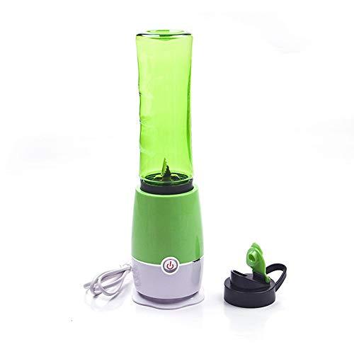 RUCHUFT Mini Juice Squezers Flasche, 500ML Elektrische Mehrzweck Fruchtpresse Handheld Maker Mixer Portable USB aufladbar, Green (Hand-held-gemüse-zerkleinerer)