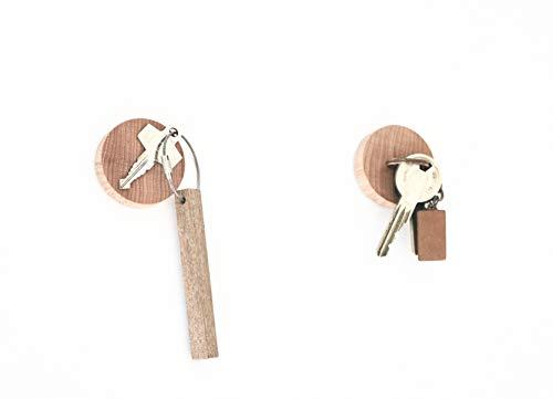 Anaan Cimukou Porta llaves pared Colgador llaves madera