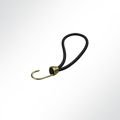 LYSEL Expanderschlingen mit Spiralhaken I, (LxD) 250x6mm in schwarz (10 Stück)