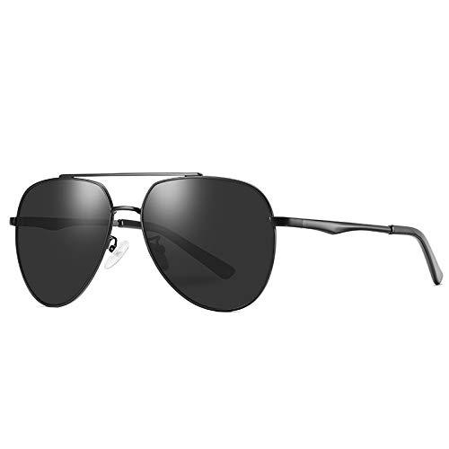 ZJHZJH Männer Sonnenbrillen Polarisierte Spiegel Shades Sonnenbrille Aviator Eyewear Große Linse Hohe Qualität Pilot Brille Classic