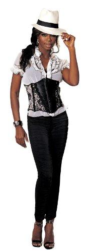 Shirley of Hollywood Nummer 623kleinen schwarz Stretch Satin und Spitze Taillenmieder