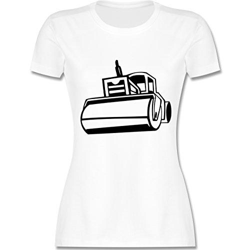 Andere Fahrzeuge - Dampfwalze - tailliertes Premium T-Shirt mit Rundhalsausschnitt für Damen Weiß