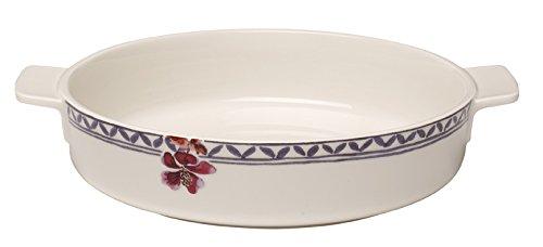 Villeroy & Boch 10-4166-3263 Plat à gratin, Porcelaine Premium, Blanc/Multicolore, 24 cm
