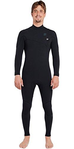 BILLABONG Furnace Carbon - Comp 4/3 MM Ziperless Wetsuit Black- Leicht Einfach Stretch Thermal Ofenausfütterung Dry