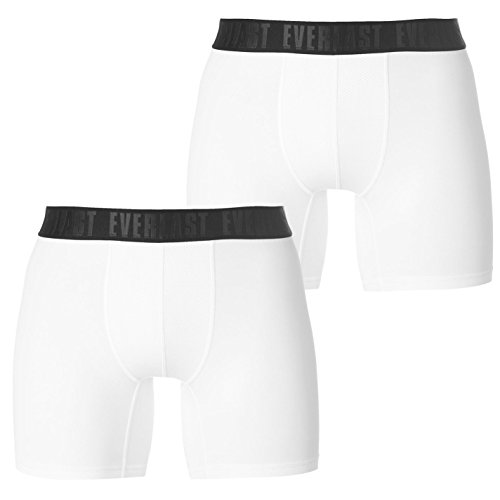 Everlast Mens Training Trunks 2 Pack Underwear Breathable Lightweight Stretch