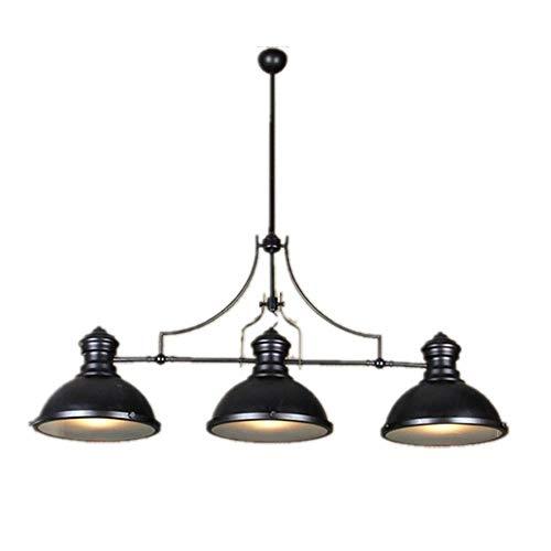 Retro Industrie Kronleuchter 3 Lichter für Restaurant Club Bar Cafe Loft Wohnzimmer Arbeitszimmer, Eisen Pendelleuchte Schwarz Farbe Vintage Beleuchtung Nordischen Stil E27