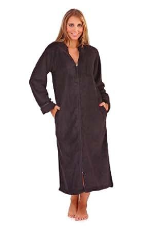 New Luxury Womens Full Length Long Fleece Bath Robe Dressing Gown