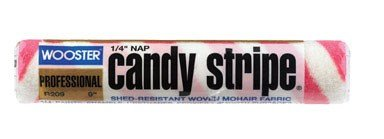 Wooster Candy Stripe Professional Roller Cover 1/4