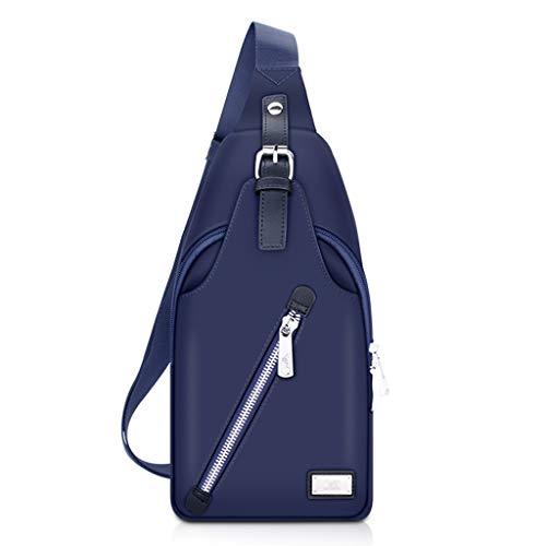 Umhängetasche Herren Canvas Outdoor Schultergurt Brusttasche Business Freizeit Wandern Tasche (Farbe : B)