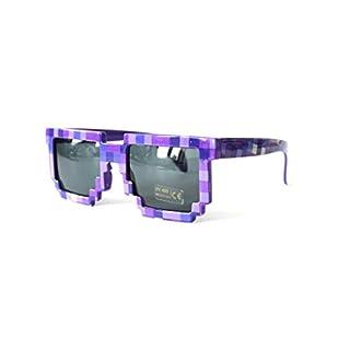 Pixelbrille Sonnenbrille Pixelsonnenbrille Pixel Brille Pixelbrille (SGP1150-I-lila)