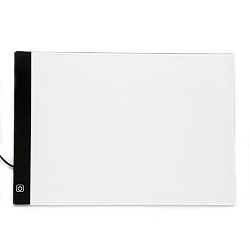 eichen Zeichenbrett Licht Pad Light Pad Dünne Malen Tracing Light Box Künstler Ultradünne A4 LED-Art Display Zeichenbrett Stencil Light Box Tracing Tattoo Tabelle A4 Tracing Licht Box (33*23*0.35cm/13*9*0.14inch, Schwarzweiss) (Zeichen Tattoo)