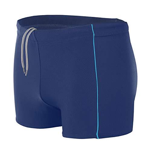 Aquarti Bañador para Hombre Tipo Boxer, Color: Azul Oscuro/Azul, Größe: 5XL Cintura c. 125 cm
