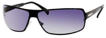 Giorgio Armani 747 Shiny Black Frame/Grey Gradient Lens Metal Sunglasses