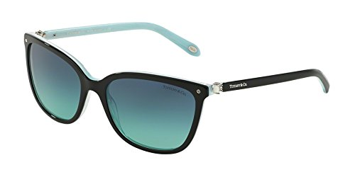 Tiffany 0ty4105hb 81939s 55, occhiali da sole donna, nero (black/striped blue/blueegradient), unica (taglia produttore: one size)