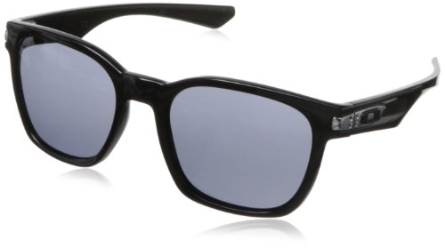 Oakley - Occhiali da Sole MOD. 9175 Sun, Unisex adulto, Lenti: Grey, Montatura: Polished Black (917501), 55