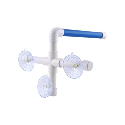 Vogel Papagei Perches Faltbare Saugnapf Fenster Dusche Bad Wand Pfote Schleifen Stand Spielzeug, blau / weiß