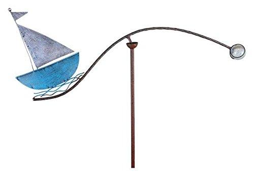Windspiel für den Garten - Motiv: Segelboot - Länge 59cm