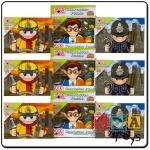 Educational Toddler Toy Wooden set Poiceman Picture Puzzle With 9 Pieces and