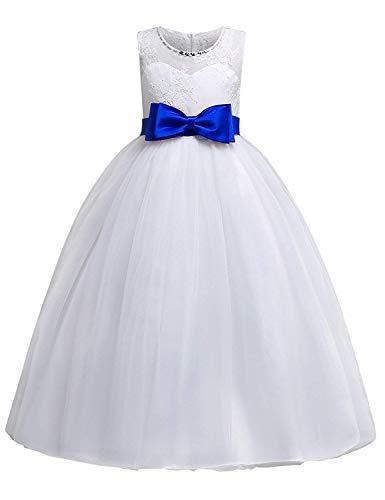 Prinzessin Kleid Kinder Mädchen Festlich Elegante Ärmellose Blumenspitze Maxi Kleider für...