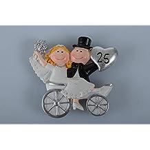 Xxv Anniversario Di Matrimonio.25 Anniversario Di Matrimonio Bomboniere 3 Amazon It