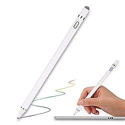 MPIO Stylus Pen für Apple iPad Wiederaufladbar Touchstift mit 1,5 mm Extrem Feiner Spitze, Aktiver Stylus Stift für iPad Pro Air Mini/iPhone/Samsung/Lenovo Android Tablet mit Austauschbarer Kappe