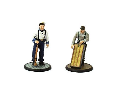 Preisvergleich Produktbild Vollplastische Zinnfigur 1:32 Deutscher Soldat Matrose und Gefreiter 1943-45 2. Weltkrieg ca. 5,5 cm Vollplastische Zinnfigur