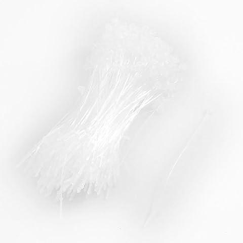 500 Piezas Blanco Snap Bloqueo Arandelas Bucle Precio Etiqueta Fijador 7.6 cm 80mm