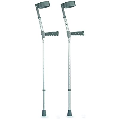 NRS Healthcare Double Adjustable Crutches with PVC Handle - Medium - Pair