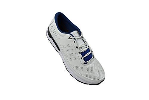 Zerimar Scarpe da Golf Fabbricati in Pelle Bovina Sport e Confortevole  Casual Running Bianco ... 291fffa7cb6