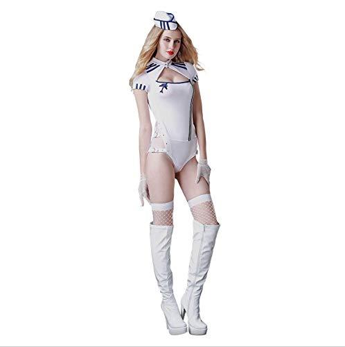 Sexy Unterwäsche Geile Kleidung Integrierte Navy Dessous Geile Unterwäsche Uniform Set Cosplay Web Strumpfhosen GRATIS Größe Schöne Bottom Temptation Nachtwäsche Extreme Kleidung für Erwachsene