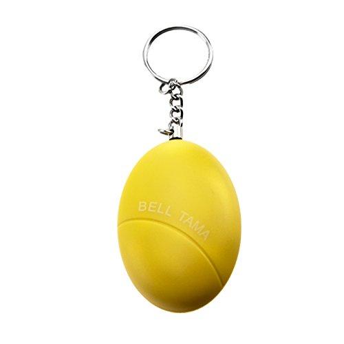 KOBERT GOODS – Personalalarm Taschenalarm bzw. Schlüsselanhänger in Gelb mit Stift zum Herausziehen und 120 dB Sirene Zum Einsatz als Selbstschutz, Selbstverteidigung, Mini-Alarmanlage und Personalalarm