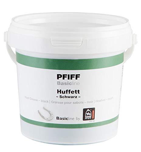 PFIFF Basicline Huffett, Pferde Hufpflege, Lorbeerextrakt, Wachse, schwarz, 500 g