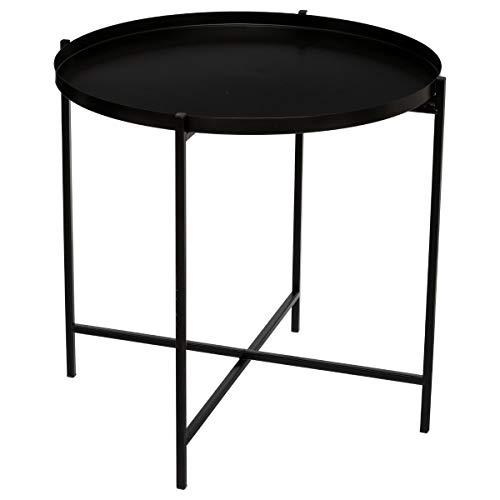 Atmosphera - Table à café Noire Kylian en métal