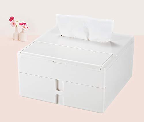 QWSH Multifunktions Make-up Kosmetik Büro Lagerung Multifunktions-Speicher-Organizer Tissue Box Tissue Box Tissue Box Große Kapazität178 * 178 * 95mm,Gray