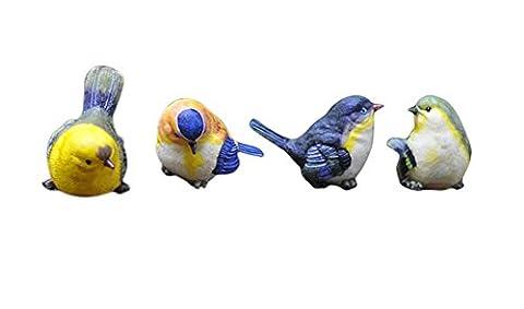 Creative Living Room TV Cabinet Decorative Resin Bird Figurines, 4